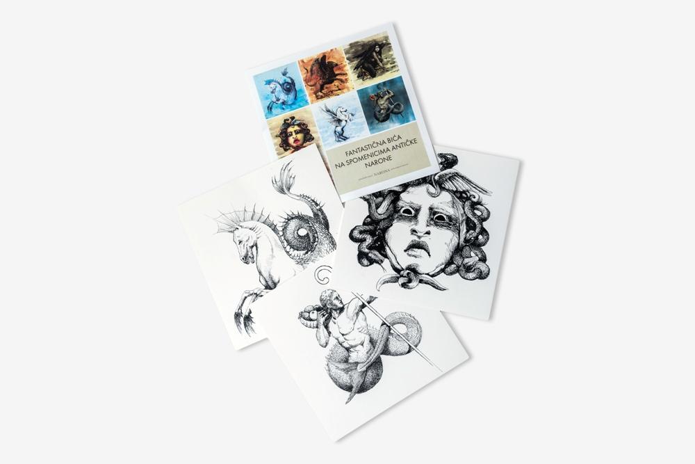 Bojanka razglednica s motivima mitoloških bića